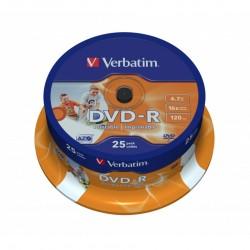 TEC DVD VERBATIM 25/SET CAKE DVD-R VDP1625-US