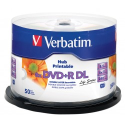 NEO DVD VERBATIM 50/SET PRINTABIL DOUBLE LAYER