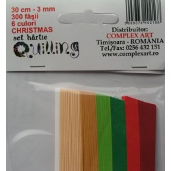 CA HARTIE QUILLING 6 CULORI CHRISTMAS 300 FASII 587009