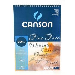 PR BLOC CANSON SPIRA FINE FACE A5 30F 200GR/M2