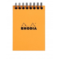 RH BLOC NOTES A7 80F AR ORANGE RHODIA 11500C