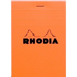 RH BLOC NOTES 8.5*12CM 80F AR ORANGE N12 RHODIA 12200C