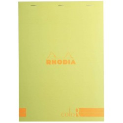 RH BLOC NOTES A4 70F 90GR DR ANISE RHODIA COLOR PAD 18966C