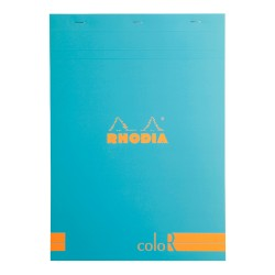 RH BLOC NOTES A4 70F 90GR DR TURCOAZ RHODIA COLOR PAD 18967C