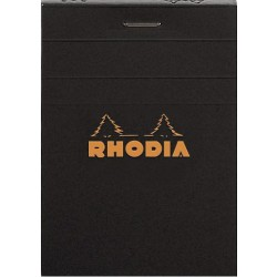 RH BLOC NOTES A7 80F AR BLACK N11 RHODIA 112009C