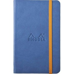 RH NOTES CU ELASTIC A6 96F VELIN SAFIR BLUE RHODIA 118628C