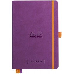 RH NOTES GOALBOOK HARDC A5 120F DOT-LINII CU ELASTIC PURPLE 118780C