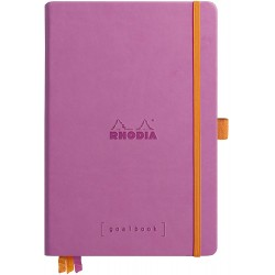 RH NOTES GOALBOOK HARDC A5 120F DOT-LINII CU ELASTIC LILIAC RHODIA 118781C