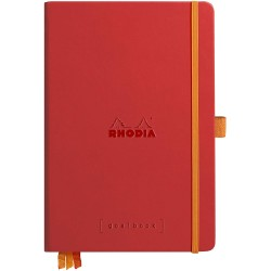 RH NOTES GOALBOOK HARDC A5 120F DOT-LINII POPPY CU ELASTIC RHODIA 118783C