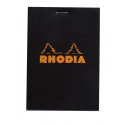 RH BLOC NOTES 8.5*12CM 80F AR BLACK N12 RHODIA 122009C