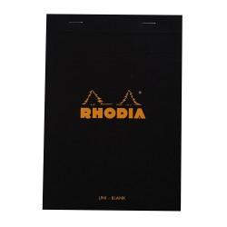 RH BLOC NOTES A5 80F VELIN BLACK N16 RHODIA 160009C