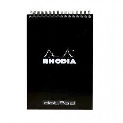RH BLOC NOTES A5 80F DOT PAD BLACK RHODIA 165039C