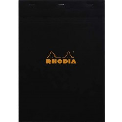 RH BLOC NOTES A4 RHODIA 80F BLACK N18 AR 182009C