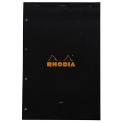 RH BLOC NOTES A4 DR 80F BLACK N20 RHODIA 206009C