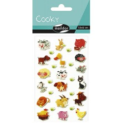 CF STICKER 3D COOKY 7.5*12CM 560352C ANIMALE