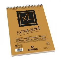 PR BLOC SCHITE CANSON A5 EXTRA BLANC XL 90 GR/M2, SPIRA, 60 FOI