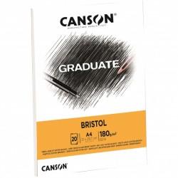 PR BLOC CANSON GRADUATE BRISTOL A5 20F, 180GR/M2 400110382