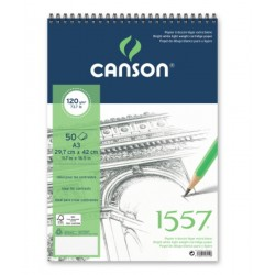 Pr Bloc Schite Canson 1557 A3 Cu Spira 50f 120g 31412a002