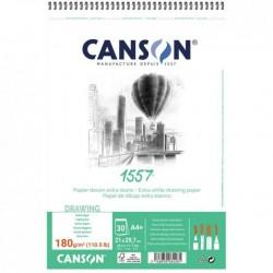 Pr Bloc Schite Canson 1557 A4 Cu Spira 30f 180g 31412a004