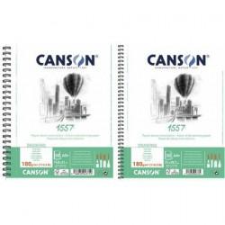 Pr Bloc Desen Canson 1557 A4 Cu Spira 30f 180g 31412a009