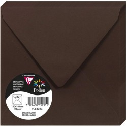 PLIC CLAIREFONTAINE 140*140 20/SET CHOCOLATE BROWN 5238C