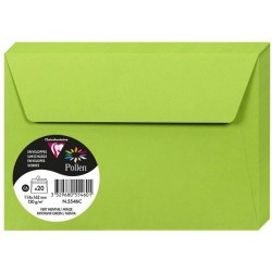 PLIC CLAIREFONTAINE C6 20/SET VERDE INTENS 5546C