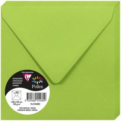 PLIC CLAIREFONTAINE 140*140 20/SET VERDE INTENS 5548C
