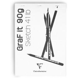 CF BLOC DESEN GRAFIT A4 80F 90GR CLAIREFONTAINE 96623C