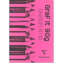 Cf Bloc Desen Grafit A3 80f 90gr Clairefontaine 96627c