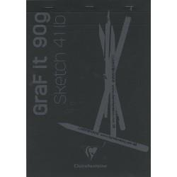 Cf Bloc Desen Grafit A4 80f 90gr Clairefontaine Black 96841c