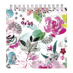 CF NOTES CU SPIRA 12*12CM 50F VELINE BLOOMING CLAIREFONTAINE 115560C
