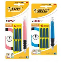 LEC STILOU BIC XPEN + 6 CARTUSE BL/1