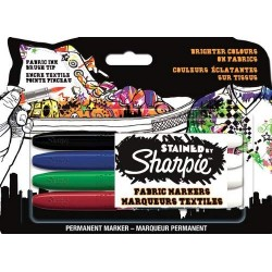 CON SET MARKER TEXTIL STAINED BY SHARPIE 4/SET 962141