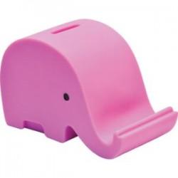 Eu Pusculita Plastic Elefant 13.7*7*8.6cm Roz 73721ro