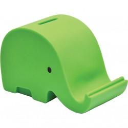 Eu Pusculita Plastic Elefant 13.7*7*8.6cm Verde 73721ze