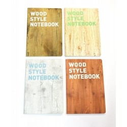 EU NOTES A5 80 FILE WOOD STYLE 52938