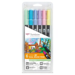 CON SET TOMBOW PASTEL COLOURS 6/SET ABT-6P-2