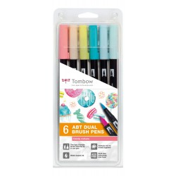 CON SET TOMBOW 6/SET CANDY COLOURS ABT-6P-4