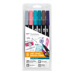 CON SET TOMBOW 6/SET VINTAGE COLOURS ABT-6P-5