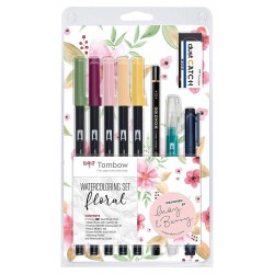 CON SET TOMBOW ACUARELA FLORAL WCS-FL