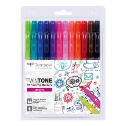CON SET TOMBOW TWINTONE VIVID 12/SET WS-PK-12P-1