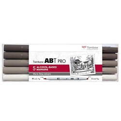 CON SET MARKER TOMBOW 5/SET WARM GREY ABTP-5P-3