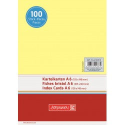 BR INDEX CARD A6 100/SET VE 2260010 GALBEN