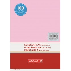 BR INDEX CARD A6 100/SET VE 2260020 ROSU
