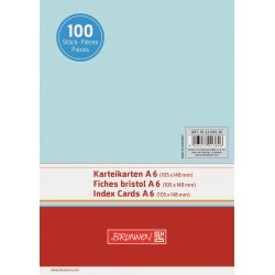 BR INDEX CARD A6 100/SET VE 2260030 ALBASTRU