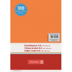 BR INDEX CARD A6 100/SET VE 2260040 ORANGE
