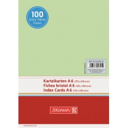 BR INDEX CARD A6 100/SET VELIN 2260050 VERDE
