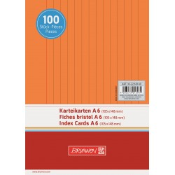 BR INDEX CARD A6 100/SET DR 2260140 ORANGE