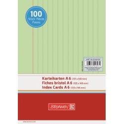 BR INDEX CARD A6 100/SET DR 2260150 VERDE