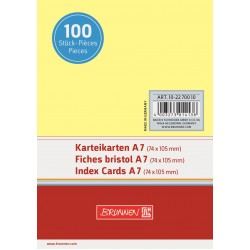 BR INDEX CARD A7 100/SET VE 2270010 GALBEN
